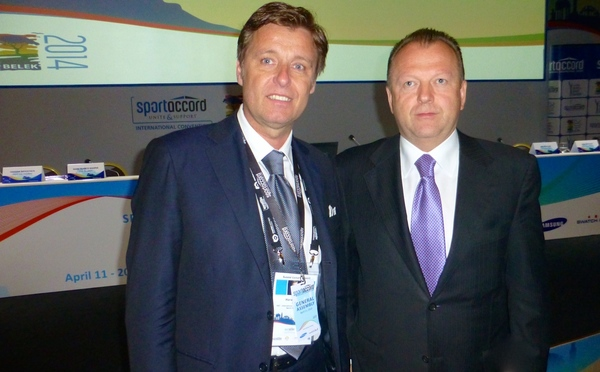 Harald Bauer with Marius Vizer, President of SportAccord