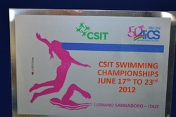 CSIT Swimming Championships 2012 in Lignano / Italy: Well done AICS!