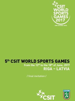 FINAL INVITATION - 5th CSIT World Sports Games
