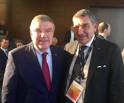 Bruno Molea meets Thomas Bach