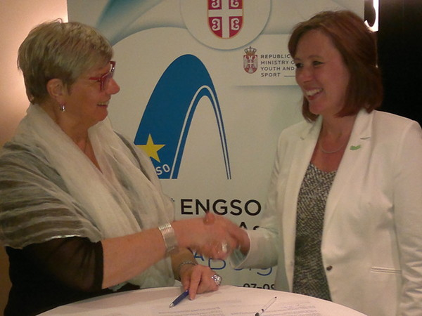 CSIT Vice President Sirpa Paatero signed memorandum with ENGSO