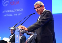 CSIT President Bruno Molea at the Crans Montana Forum