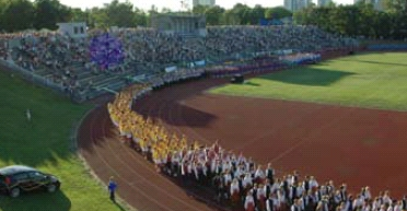 Big Opening Ceremony in the Kalev Stadium